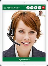 Live Expert Mobility iPad Fullscreen Call
